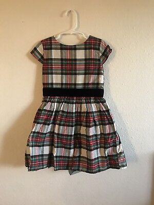 5a99c2dd5 Carters Baby Girls Plaid Holiday Dress collar red black green velvet Size 5
