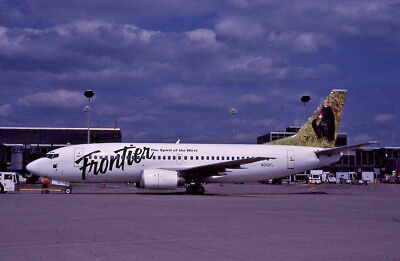 Frontier Airlines Boeing 737-3L9 {N313FL} 35mm Kodchrome Slide