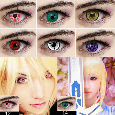 Soft Colorful Contact Lenses Round Eyes Makeup Halloween Party Cosplay Moda