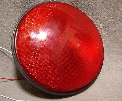 """Dialight Red LED Traffic Light Signal 12"""" Plastic Lens with Rubber Gasket NEW"""