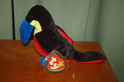 KIWI the Toucan Bird  - 1995 - Ty Beanie Baby  - MWMT - Retired - Fast Shipping