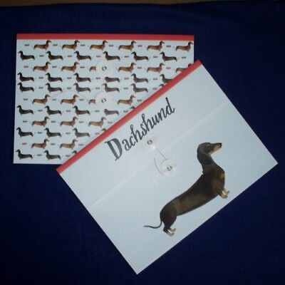 Set of Two Dachshund Dog Document Wallets by Milly Green