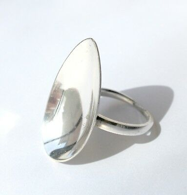 Antique Vintage - Silver Spoon Ring - Handcrafted Antique Teaspoon - Size P +1/2