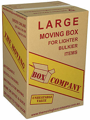 20x 110L MOVING BOXES TEA CHEST LARGE ONLY$3.45EA  CARDBOARD PACKING REMOVALIST