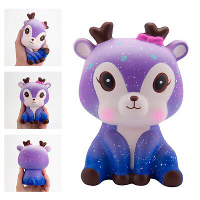 Quality Kawaii Galaxy Deer Cream Scented Slow Rising Squeeze Strap Kids Toy Gift