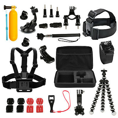 US 26-in-1 Head Chest Mount Monopod Accessories Kit For GoPro Hero 1 2 3 4 5