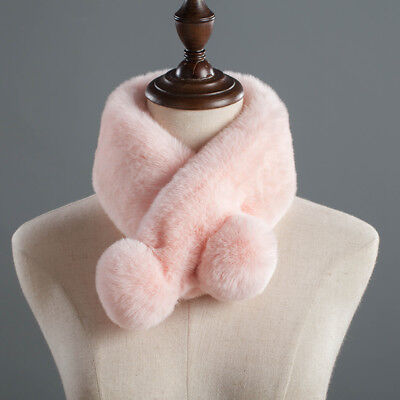 New Style Double-Faced Warm Cute Rabbit Fur Scarf Women's Winter Scarf Wraps