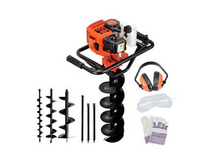 Post Hole Digger Drill Borer Auger Bits Drill Kit plus safety Equipment 88cc NEW