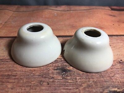 Vintage Reclaimed White Porcealin Faucet Mounts Covers Sink As-is 10P