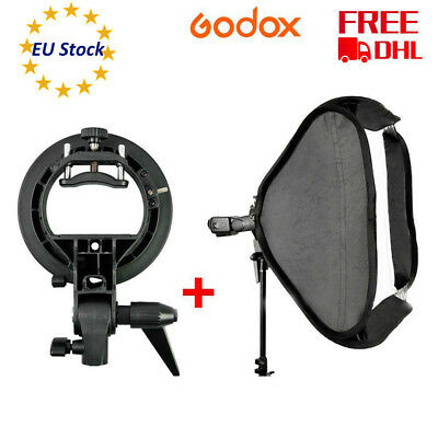 EU Godox SFUV 60x60cm Foldable Studio Softbox S-Type Bracket Bowens Mount Holder