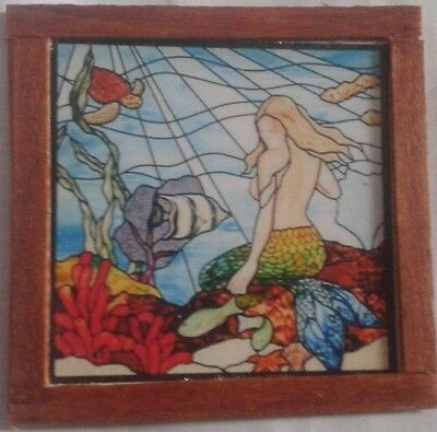 Dolls House  A lovely Mermaid (stained glass  look)