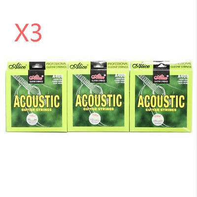 Alice A408 Acoustic Guitar String Stainless Steel Copper Alloy 6 Strings/Set