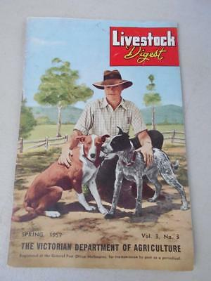 1957 Livestock Digest Agriculture Myxomatosis rabbits sheep fleece rot dog farm