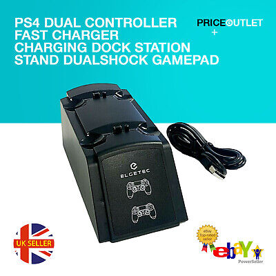 PS4 Dual Controller Fast Charger Charging Dock Station Dualshock Gamepad (Z22A