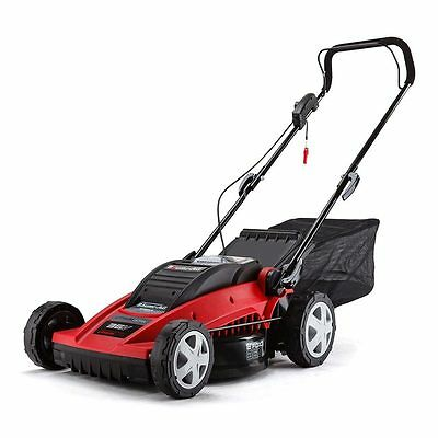 36volt Cordless Electric E-FORCE Baumr-AG lawn Mower, Catcher & Battery Charger