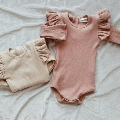 Newborn Baby Girl Boys Long Sleeve Romper Jumpsuit Bodysuit One-pieces Clothes