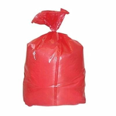 Premier Single-Use Laundry Sack, Red, Pack of 50