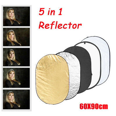 5 in 1 Photography Studio Collapsible Light Reflector + Carrying Bag 60cm*90cm
