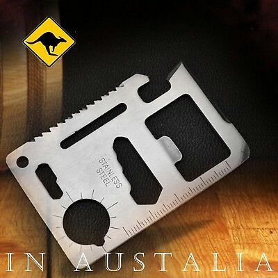 Multi Tool Pocket Knife  Credit Card size for Camping Hiking Emergency Survival