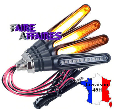 2 Clignotants à LED défilants sequentiels adaptables toutes motos / scooters