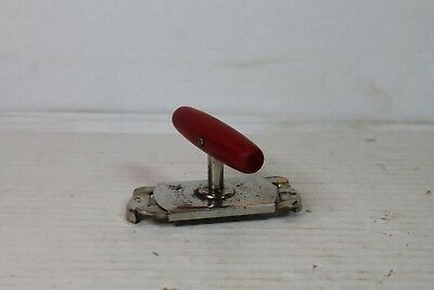 VTG Edlund Top-Off Jar & Bottle Screw Top Opener Red Wood Handle EUC