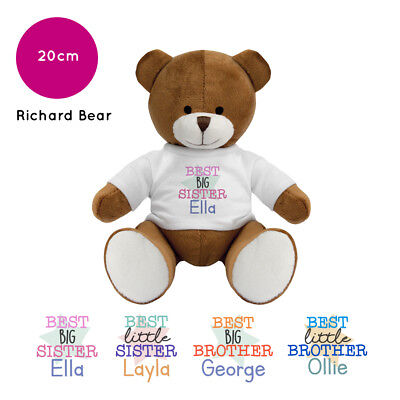 Personalised Name Presents for Little Big Best Sister Brother Richard Teddy Bear