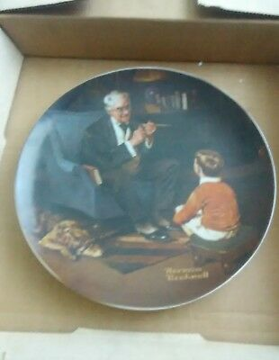 Norman rockwell collector plate The Tycoon by Knowles