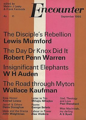 ENCOUNTER MAGAZINE (September 1966)AUDEN-A.S.BYATT-LEWIS MUMFORD-GEORGE SEFERIS