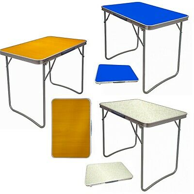 Large Portable Mdf Wooden Top Folding Dining Table Garden Outdoor Picnic Camping