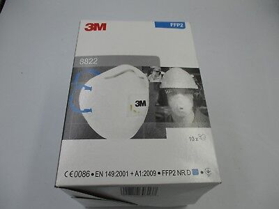 3M Respirator Valved FFP2 Classification White with Blue Straps (8822)