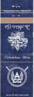 The Athletic Club Columbus Ohio Matchbook Cover