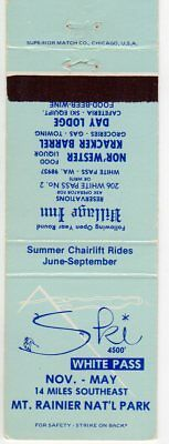 Village Inn - White Pass WA Matchbook Cover