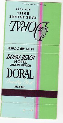 Doreal Beach Country Club Miami Matchbook Cover