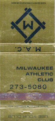 Milwaukee Athletic Club Matchbook Cover