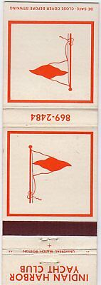 Indian Harbor Yacht Club Matchbook Cover