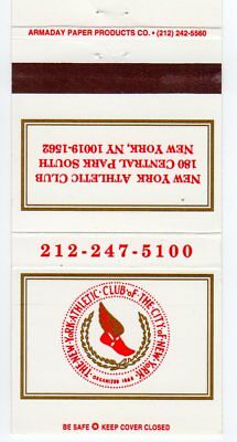 The New York Athletic Club Matchbook Cover