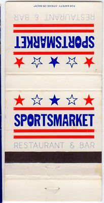 SportsMarket Restaurant and Bar, Houston, TX Matchbook Cover