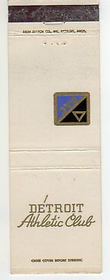 Detroit Athletic Club Matchbook Cover