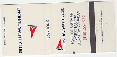 Encinal Yacht Club Alameda, CA Matchbook Cover