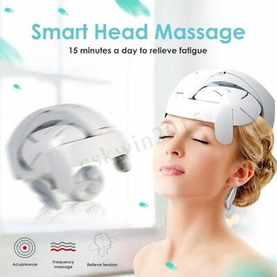 Head Massager Helmet Scalp Brain Relaxation Electrical Vibration Acupuncture