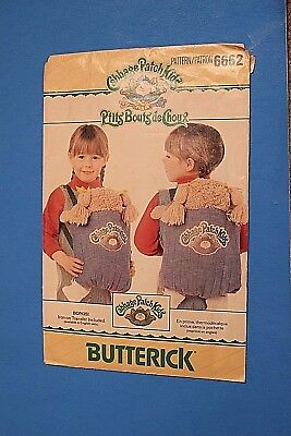 Butterick Pattern 6662 Cabbage Patch Kids Carrier Cut Vintage