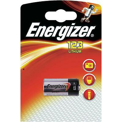 ENERGIZER Lot of 2 Batteries Lithium Photo CR 123 A 3V