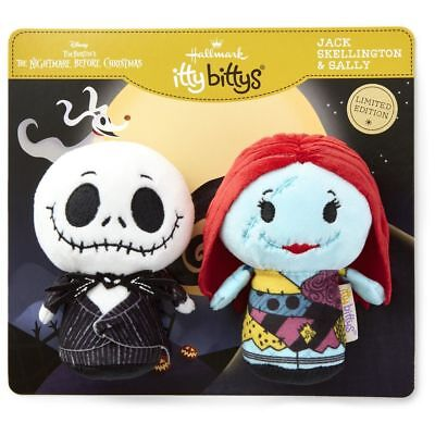 JACK SKELLINGTON & SALLY~Itty Bittys~Limited Ed~Set of 2~Halloween~Hallmark~MWT