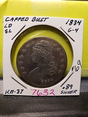 1834 Capped Bust Half Dollar 7632