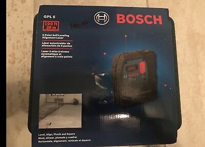 Bosch 100 ft. 5 Point Self Leveling Plumb and Square Laser  GPL 5