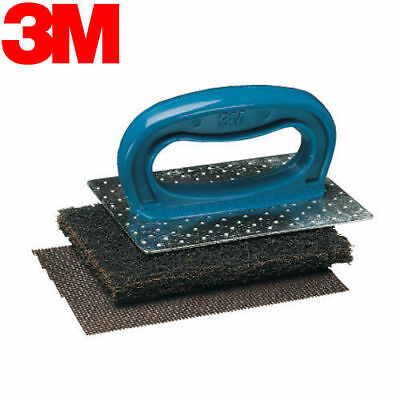 3M Scotch Brite Commercial Griddle Cleaning Pad Kit 461 Free Shipping