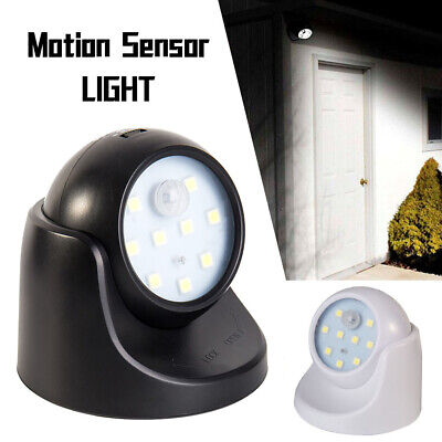 360° Battery Operated Indoor Outdoor Night Motion Sensor Security Led Light New