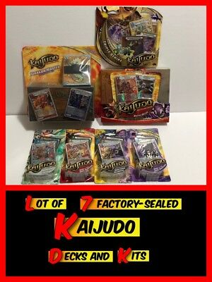 Lot of 7 Brand New KAIJUDO TCG Card Sets & Decks ALL FACTORY SEALED!!