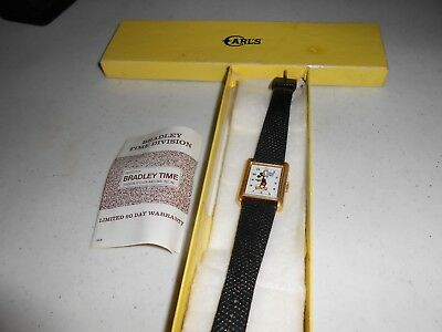 vintage bradley time mickey mouse square watch