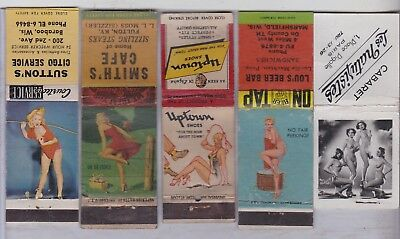 15 Girlie Pinup   Lot 2 Matchbook Matchcover